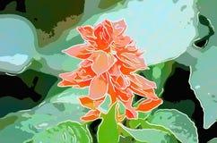 Konst av hibiskusblomman Royaltyfri Fotografi