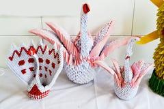 Konst av origamien Arkivfoton