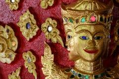 Konst av thai skulptur i Wat Suan Dok, thai tempel Royaltyfria Foton