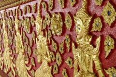 Konst av thai skulptur i Wat Suan Dok, thai tempel Fotografering för Bildbyråer