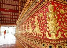Konst av thai skulptur i Wat Suan Dok, thai tempel Royaltyfri Foto