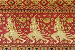 Konst av thai skulptur i Wat Suan Dok, thai tempel Royaltyfri Fotografi