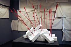 Konst biennale ArtMosSphere för gata II i Moskva royaltyfri bild