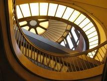 konst curves glass lampa Arkivbilder