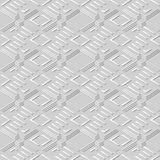 konst Diamond Check Cross Geometry Frame för vitbok 3D royaltyfri illustrationer