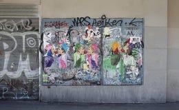Konst eller vandalism Arkivbild