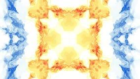 Konst för bakgrund för animering för turbulent energineon för målarfärg för Digital symmetrisk flyttning för moln mjuk vinkande n stock video