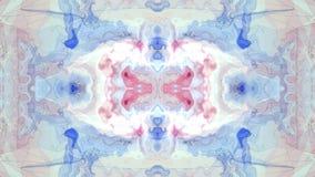 Konst för bakgrund för animering för turbulent energineon för målarfärg för Digital symmetrisk flyttning för moln mjuk vinkande n lager videofilmer