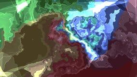 Konst för bakgrund för animering för turbulent energineon för REGNBÅGE för Digital för målarfärg flyttning för moln mjuk stilfull vektor illustrationer