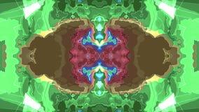 Konst för bakgrund för animering för turbulent energineon för REGNBÅGE för Digital för målarfärg flyttning för moln mjuk stilfull stock illustrationer