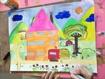 konst för barn` s Arkivbilder
