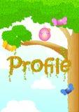 Konst för färg för natur för träd för diagrammodellbakgrund Royaltyfria Foton