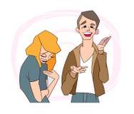 Konst för gem för män för kvinnor för komplementvektorillustration stock illustrationer