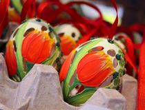 konst för hål för tulpan för easter ägg unik Royaltyfri Foto