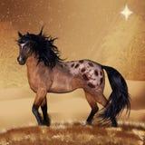 Konst för kort eller för vägg för hästjulferie Royaltyfri Fotografi