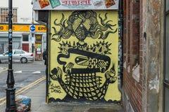 Konst för London grafittigata Arkivfoto