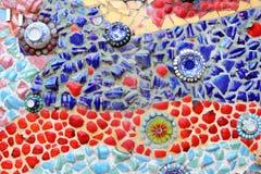 Konst för mosaik för väggbakgrund färgrik glass. Fotografering för Bildbyråer