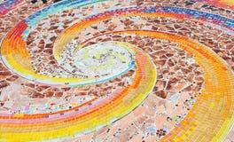 Konst för mosaik för väggbakgrund färgrik glass. Royaltyfri Foto
