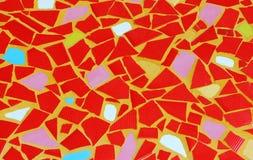 Konst för mosaik för väggbakgrund färgrik glass. Arkivfoton