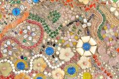 Konst för mosaik för väggbakgrund färgrik glass. Royaltyfria Bilder