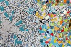 Konst för mosaik för väggbakgrund färgrik glass. Arkivfoto