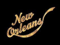 Konst för New Orleans stort festtältord Arkivbilder