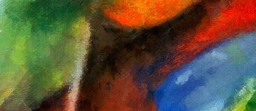 Konst för textur för abstrakt begrepp för intryckfärgblandning Konstnärlig ljus backg royaltyfri illustrationer