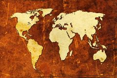 Konst för världskartamålarfärgdesign royaltyfri illustrationer