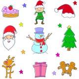 Konst för vektor för julklotteruppsättning Royaltyfri Bild