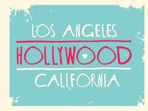 Konst för vektor Hollywood för grafisk design stock illustrationer