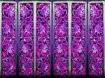 Konst för wood lilor för tappning för rumdelningskonst abstrakt och wood Fotografering för Bildbyråer