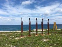 Konst i Isla mujeres Arkivfoton