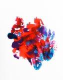 Konst, idérika röda och blåa färger för abstractionism, Royaltyfri Foto
