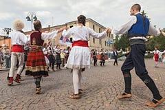 Konst kläder som är färgrik, dräkt, kultur, dans, D Arkivfoto