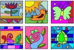 konst klottrar exponeringsglas stock illustrationer