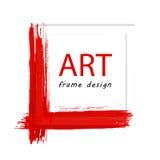 Konst målad ram Arkivbilder