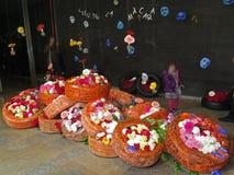 Konst med blommor Arkivbild