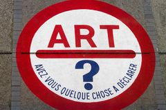 konst moderna paris Royaltyfria Bilder