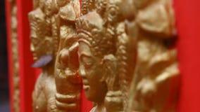 Konst och kultur för buddismCambodja religion lager videofilmer
