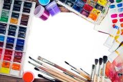 Konst- och målningram med fritt utrymme Fotografering för Bildbyråer