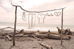 Konst på stranden Royaltyfri Bild
