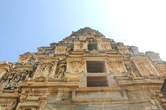 Konst på väggarna av den Virupaksha templet, Hampi, Indien Arkivfoton