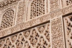 konst sniden islamisk moorish Arkivfoto