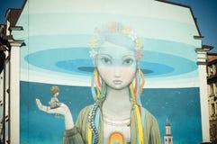 Konst under jordning Härlig stil för gatakonstgrafitti Royaltyfri Foto