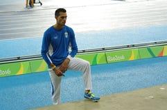 Konstadinos Filippidis, een Griekse pool vaulter bij Rio2016 Stock Foto's