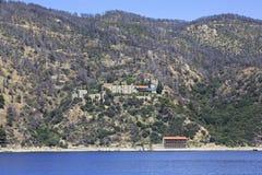 Konstamonitou monastery. Mount Athos. Royalty Free Stock Image