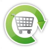 Konstant design för shoppingbegreppsillustration Arkivfoto