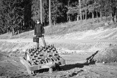 Konstantin στην κατασκευή Στοκ Εικόνα