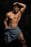 Konstantin Kamynin di modello maschio muscoloso Fotografia Stock Libera da Diritti