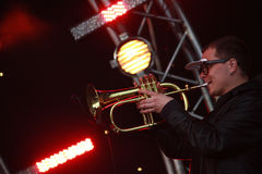 Konstantin kulikov trumpeter Στοκ φωτογραφίες με δικαίωμα ελεύθερης χρήσης